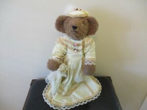 Victorian Vintage Teddy Bear Doll with stand and Umbrella. Transfar Int'l Corp.