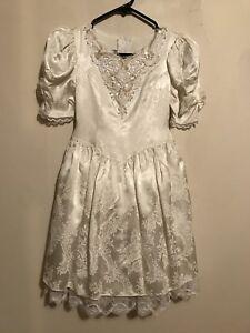 Girls White Formal Dress Size 7/9