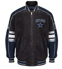NEW NFL Dallas COWBOYS Colorblocked Suede Jacket by GIII- XL