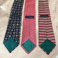 Vintage Tommy Hilfiger lot of 3 Men's Tie's 100% Silk Neck Ties