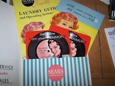 Vintage Sears Roebuck Laundry Guide Operating Instructions Kenmore + DISCS