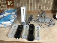 Nintendo Wii Console Bundle RVL-001 White with Power And A/V Cords TESTED Plus!!