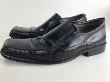 Stacy Adams Black Leather Square Toe Dress Oxfords Shoes Mens 11 M Casual