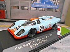 PORSCHE 917 K 1970 Le Mans #20 Gulf Siffert / Redman IXO Edit. 1:43