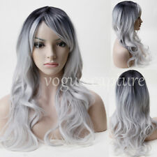 23'' Cosplay Wig Big Wavy Full Bangs Wig Top Quality Synthetic Heat Resistant US