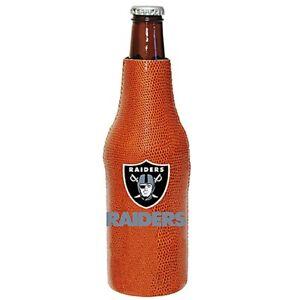 Las Vegas Raiders Pigskin Bottle Cooler, NFL Football Coozie Koozie Coolie