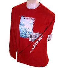 Bnwt Authentique Hommes Oakley Travis Rice T Shirt nouveau petit rouge à manches longues