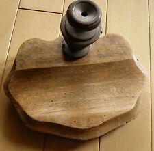 Collectible INK WELL, OLD ANTIQUE PEN HOLDER WOOD METAL BASE, Vintage WOODEN