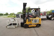 Caterpillar 5000 Lb. Capacity 2 Stage Electric Forklift w/ Cascade Layer Picker