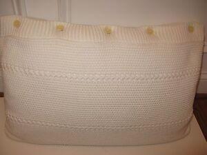 Ralph Lauren SANDSTONE Knit White Allister Corral Canyon Deco Pillow NWT
