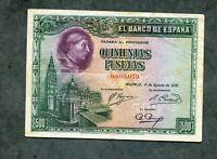 BILLETE 500 PESETAS  1928 0099070  EBC -