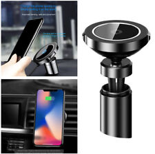 Car Qi Wireless Charger Magnetic Adsorption For iPhone X 8 Samsung Note 8 S8 S7