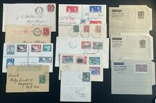 More details for 3 kings british west indies postal history lot x 12.  3 mint air letter