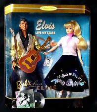 """Barbie Loves Elvis Box Set Collector Edition Mattel 12"""" New from 1996 Presley"""