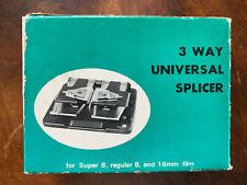 More details for 3 way universal splicer for super 8 regular 8 and 16mm film slicing kit