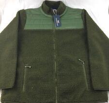 VINEYARD VINES Sherpa Full Zip Fleece Jacket Green Mens XL Extra Large NWT