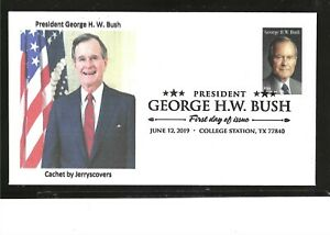 PRESIDENT GEORGE H.W. BUSH FDC 2019 COLLEGE STATION, TEXAS ONLY ONE MADE