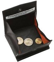 Leder Geldbörse WIENER SCHACHTEL - Schwarz mit RFID -  Geldbeutel Portemonnaie