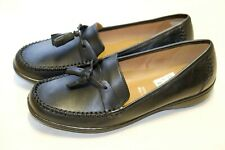 Clarks Black Leather ladies shoes/flats size 6.5/40 EE Extra wide fit