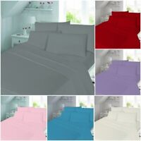 FLANNELETTE 100% BRUSHED COTTON FITTED BED SHEET SINGLE SMALL DOUBLE SUPER KING