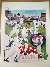 1984 Chicago Cubs Lithograph Artists Proof #1/35 - Ryne Sandberg Wrigley Field