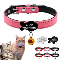 Soft Suede Leather Personalised Dog Collar with Bell for Chihuahua Yorkshire