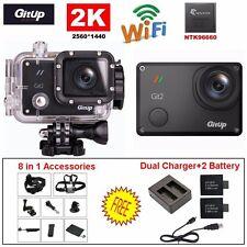 Gitup Git2 2K Wifi 16MP Helmet Cam Sports DV Action+Battery+8in1 Accessories