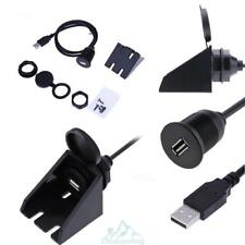 USB2.0 Male to USB2.0 Female Waterproof Dash Flush Mount Car Extension Cable