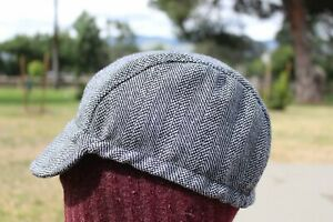 CYCLING CAP  100% WOOL GRAY COLOR   HANDMADE IN USA L M S