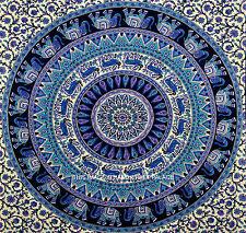 Indio Bohemio Elefante Colgante De Pared Hippie Mandala Tapiz Gypsy Twin Cobertor