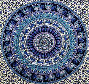 Indian Bohemian Elephant Wall Hanging Hippie Mandala Tapestry Gypsy Twin Throw