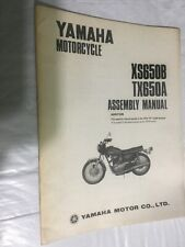 1974 Yamaha Motorcycle XS650B TX650A Assembly Manual. Oem.      BX3-18