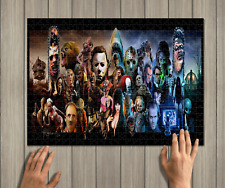 Horror Movies Icons Jigsaw Puzzle, Great Puzzle 500 Pieces