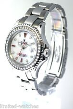 Rolex Yahctmaster 16622 Watch In Platinum,With White Pearl Diamond Dial & Bezel