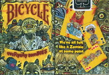 EVERYDAY ZOMBIES BICYCLE DECK PLAYING CARDS BY USPCC HORROR MAGIC TRICKS COLLECT