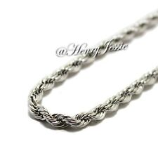 """20""""Stainless Steel 3.5mm Silver Smooth Rope Link Chain Necklace"""