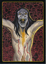 THE CROW CITY OF ANGELS EMBOSSED LEGENDS OF THE CROW CARD 6 OF 10
