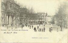 CARTE POSTALE AVIGNON LA PLACE DE L'HORLOGE