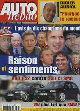 AUTO HEBDO n°1367 du 14 Novembre 2002 VW GOLF 4 R32 BMW 330CI TOUAREG V10 TDI