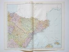 1920 Map Spain Portugal North East Large Colour Map Gross