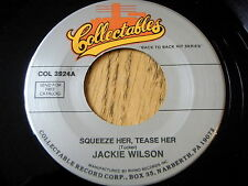 "JACKIE WILSON - SQUEEZE HER, TEASE HER / YOUR ONE AND ONLY LOVE     7"" UNPLAYED"