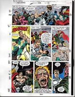 1991 Marvel Avengers 328 color guide art page 16: Thor/Iron Man/Captain America