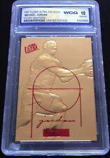 MICHAEL JORDAN 1997 FLEER ULTRA COURT MASTERS LIMITED GEMMT 10 23KT GOLD CARD!