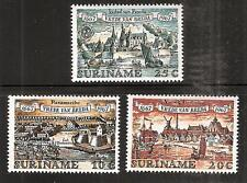 SURINAM # 349-51 MNH TREATY BETWEEN BRITAIN, FRANCE and NETHERLANDS