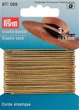 € 0,80/m Prym cordino elastico oro 3m/Ø1,5mm Gomma cappello Fai da te rubber