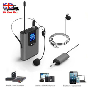 Wireless Lavalier Lapel Microphone MIC System Headset Receiver Transmitter