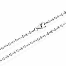 925 Sterlingsilber Kugel Kette für Anhänger Silberkette 70cm 2,50mm 11,8gr 2495