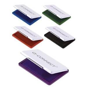 Stempelkissen Getränkt schwarz blau rot grün 9x5,5cm für Stempel Farbe oder Set