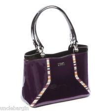Serenade Purple Tulip Genuine Leather Handbag (SH24-7128)