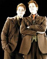 James & Oliver PHELPS Signed 10 x 8 Photo 2 AFTAL COA Harry Potter Weasley Twins